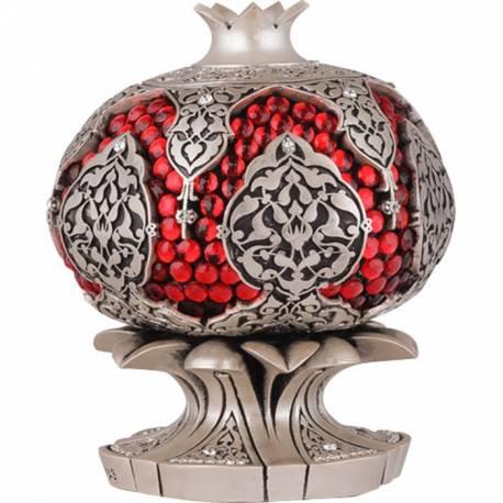 Pomegranate with red stone trinket of Abundance