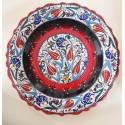Istanbul Tulip Iznik Pottery Plate 30 Cm