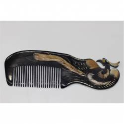 Handmade Bone Comb Ox Horn Handle