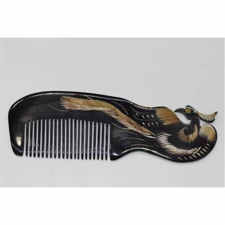 Handmade Bone Comb Ox Horn Handle