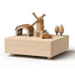 Wooderful Life Music Box Windmill and Truck