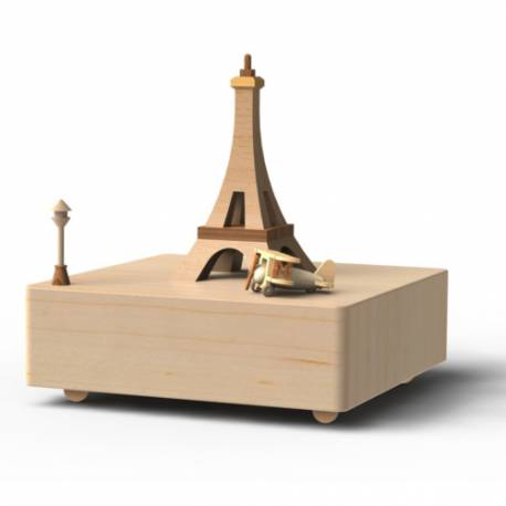 Wooderful Life Music Box Eiffel Tower