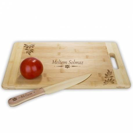 Personalized, Wooden Knife and Cutting Board Set
