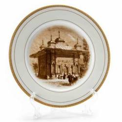 III. Ahmed Fountain Engravings Circle Decorative Plate