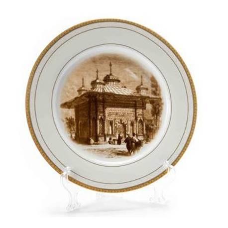 III. Ahmed Fountain Engravings Circle Decorative Plate