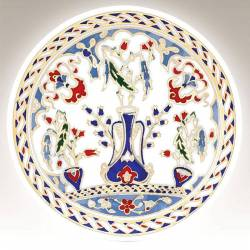 Kutahya Porcelain Hand Made 10 cm Plate no3