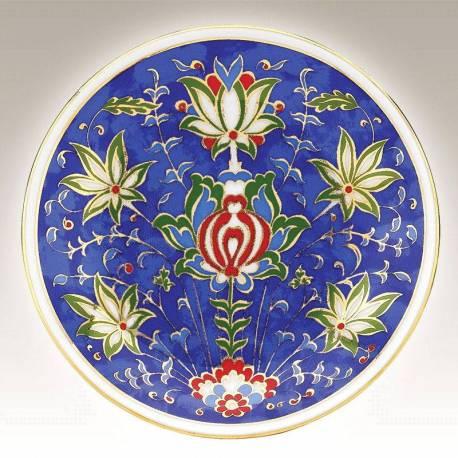 Kutahya Porcelain Hand Made 13 cm Plate no13