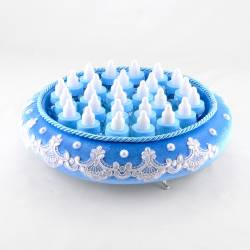 Blue Velvet Round Feeding Bottle On A Tray Drajel Newborn gift