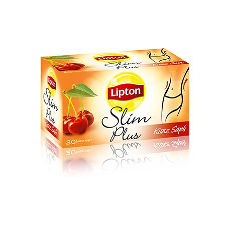 Lipton Slim Plus Weight Loss Tea with Cherry stalk