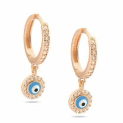 Evil eye Silver Earrings