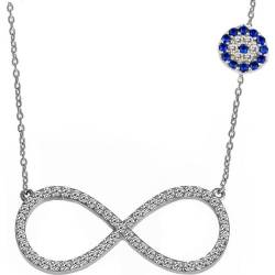 Evil Eye Infinity Silver Necklaces