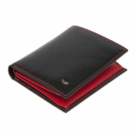 Black - Red Leather Men's Wallet