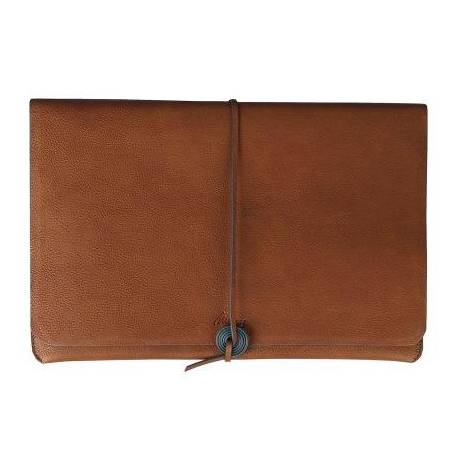 Leather MacBook Case - Brown