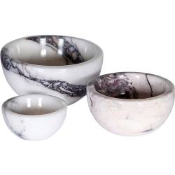 Natural Lilla marble sauce Set with 3 pcs