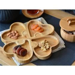 Jigsaw Bamboo Breakfast Appetizer Plate