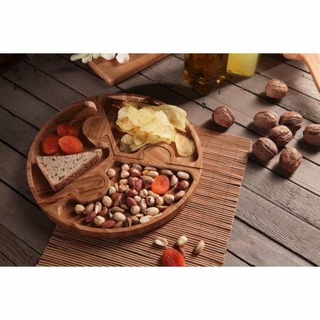 Bamboo Breakfast Appetizer Plate