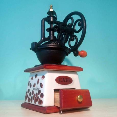 Coffee Mill Nostalgic looking ceramic Brown mill