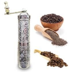 Zamak Ottoman motifs spice coffee grinder