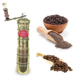 Brass long flat black pepper, coffee grinder