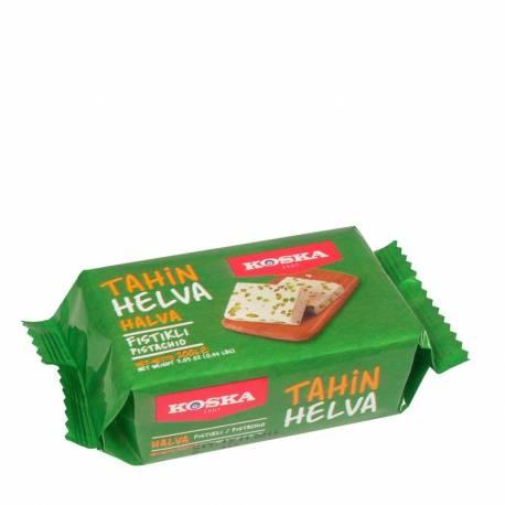 Turkish Tahini Halva , Plain, Cocoa, Pistachios