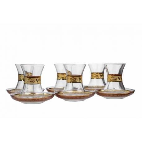 Golden Gilded Tea Cups