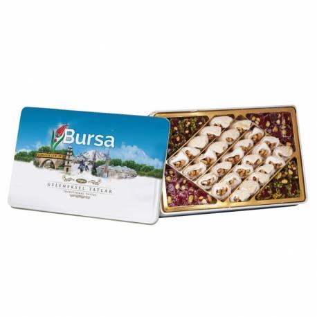 Bursa Traditional Flavors Turkish Delights Metal Box