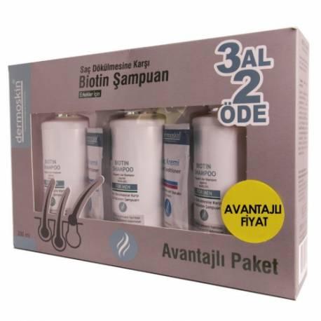 Dermoskin Biotin Solution + Biotin Shampoo 200ml Men