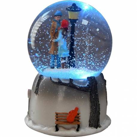 Mnk Night Light Lighted Snow Globe and Music Box