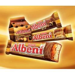 Albeni Milk Chocolate Coated Caramel and Biscuit Bar, Cake, Ball