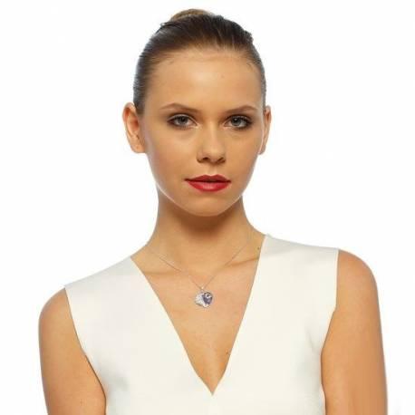 Swarovski Evil Eye Bead Silver Heart Necklaces