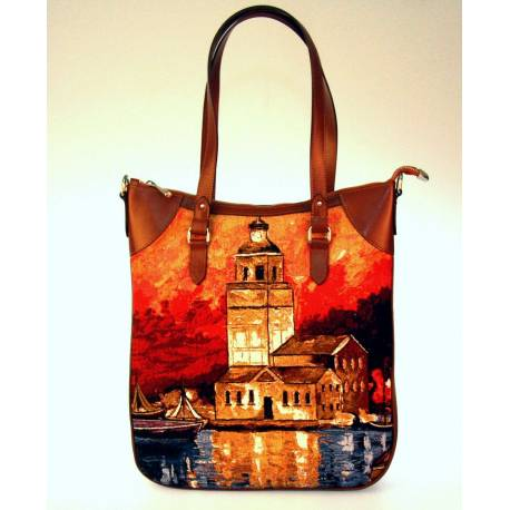 Tapestry Weaving Maiden Tower authentic ladies handbags