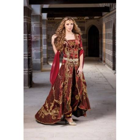 Special Sewing Tailed Sultan Kaftan