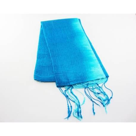 Turkish hand-woven silk shawl