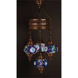 Quad Mosaic Chandelier