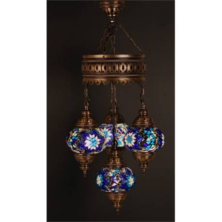 Chandelier Glass Mosaic Lamp