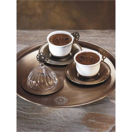 Roxelana Coffee Cup and Turkish Delight Set