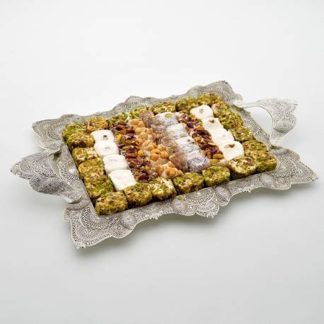 Mixed Turkish Delights on Mardin Telkari Tray
