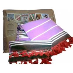 Hand woven Peshtemal Peshkir Set Special Series Purple